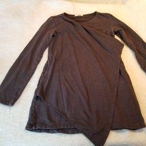 Prairie underground wrap front brown pullover